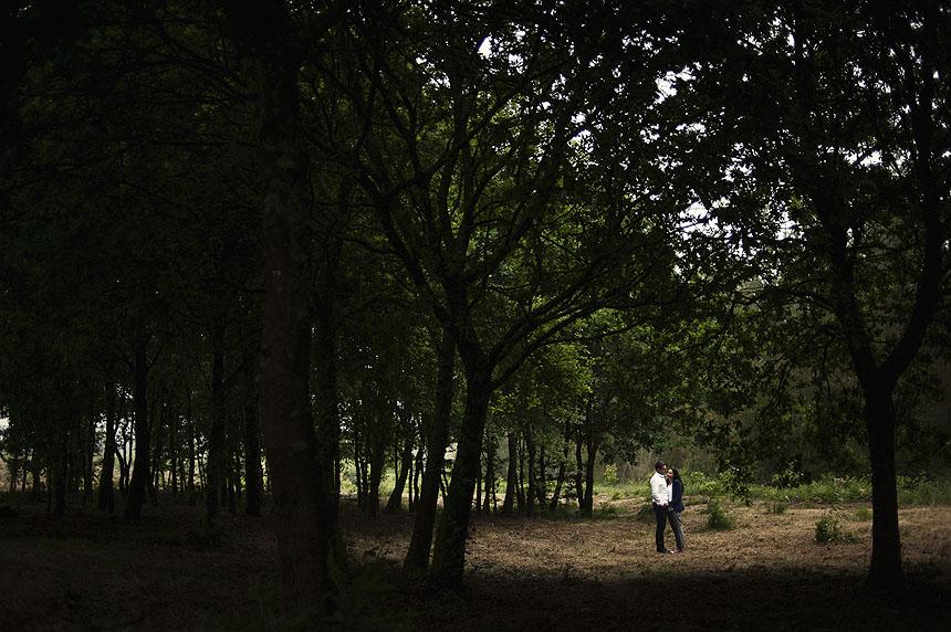 Reportaje fotográfico de preboda realizado en Boimorto de La Coruña