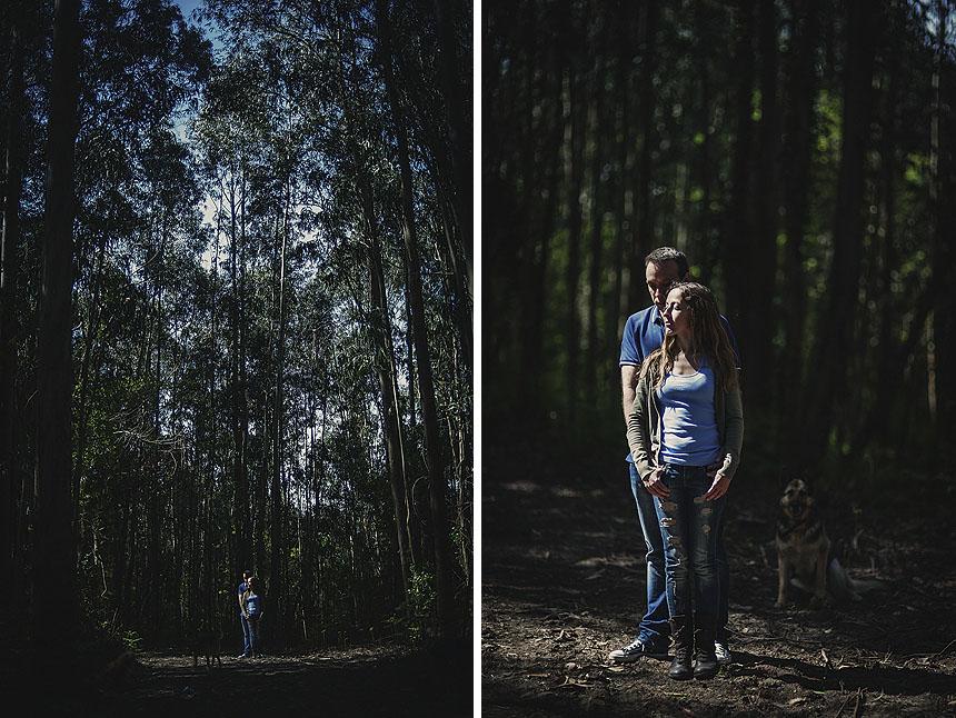 Sesión de fotos de boda y preboda realizada en Miño de Coruña